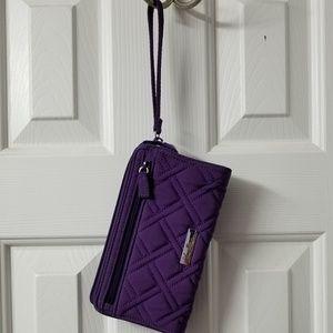 Vera Bradley Front Zip Wristlet - Elderberry
